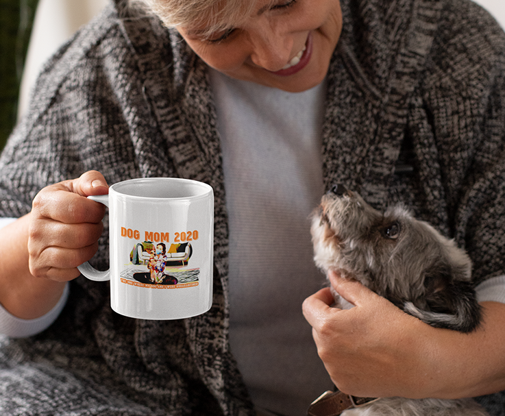 Dog Mom 2020 Quarantined White Mug