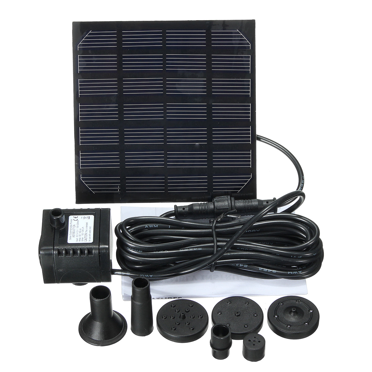 LYFGREEN™ Water Garden Patio 1.2W Solar Panel Pool Bird Bath Fountain Water Pump with 4 Nozzles