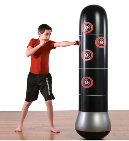 FitSport™ Inflatable Kicking Bag and Boxing Sandbag Stand - Punching Bag Kids