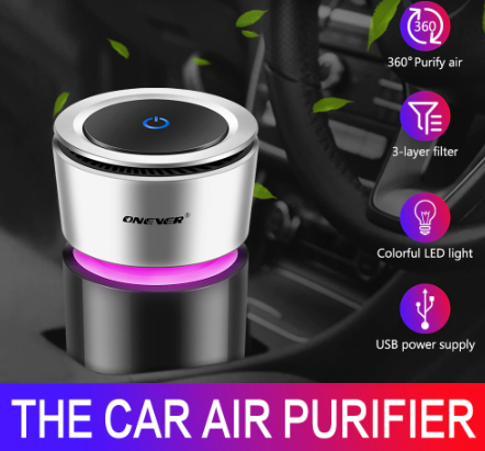 HITECH™ Car Air Purifier and Freshener with Colorful Lights