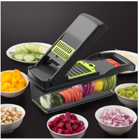 KitchenTool™ Multi-function Vegetable Cutter with Drain Basket