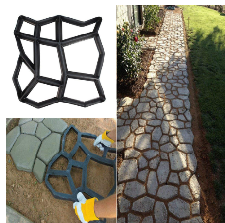 DIYHOMES™ Path Maker Mold and Home Garden Road Design Template