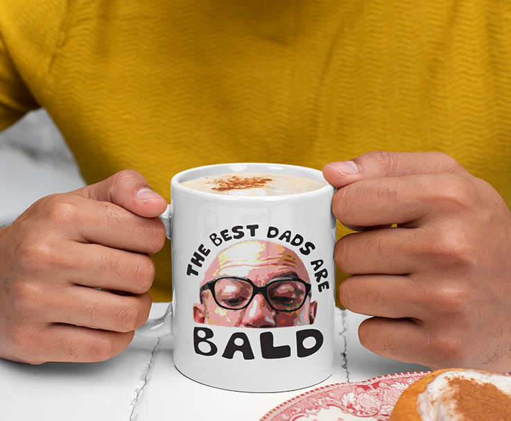 The Best Dad Are Bald White Mug