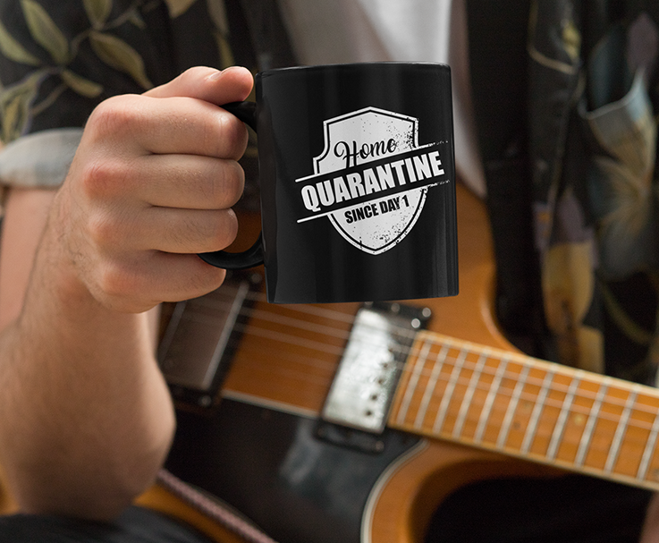 Home Quarantine Since Day 1 Black Mug