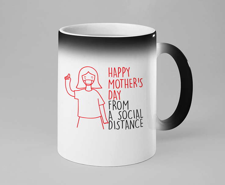 Mother's Day Social Distancing Color Changing Mug