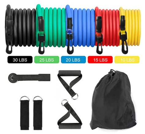 FitSport™ Resistance Tube and Elastic Loop Bands for Training Workout