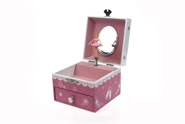 Ballerina Square Music Box