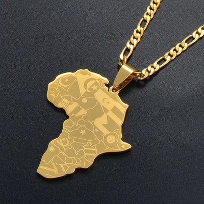 pendentif collier africain