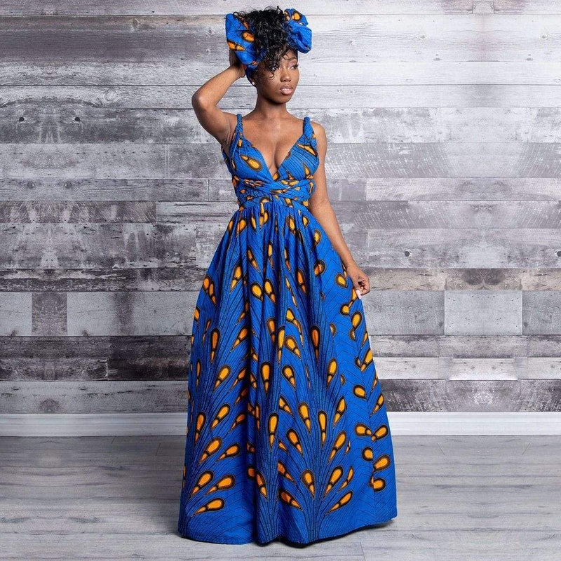 Robe Africaine Bleu Moderne | Afro Nation