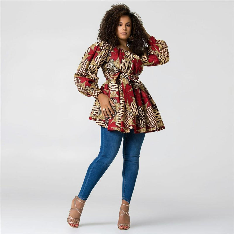 Robe Africaine Florale Courte | Afro Nation