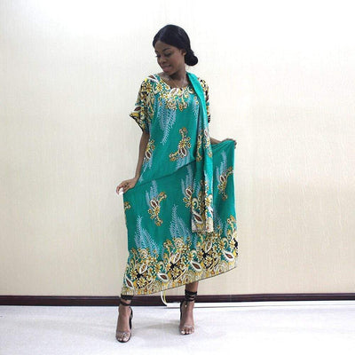 Robe Africaine Verte Traditionnelle | Afro Nation