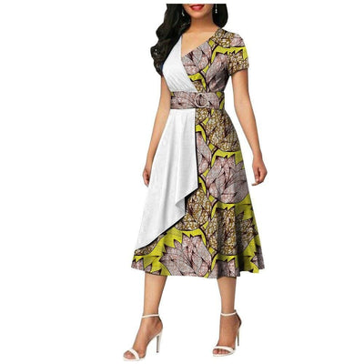Robe Africaine Wax Longue Chic