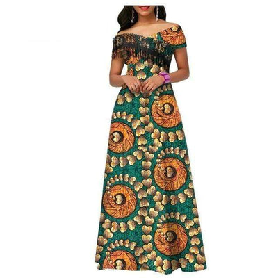 Robe Africaine Wax Coeur