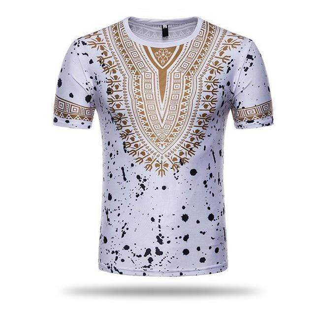 T-shirt Africaine Homme Blanc