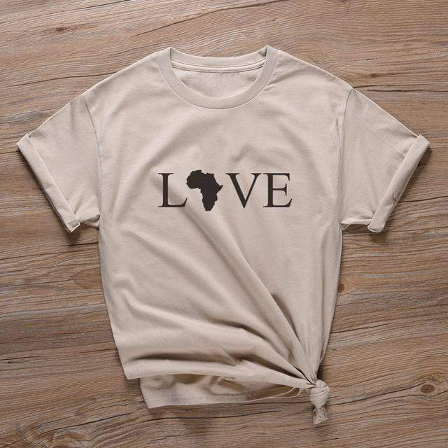 T-Shirt Africain Love Pastel  | Afro Nation