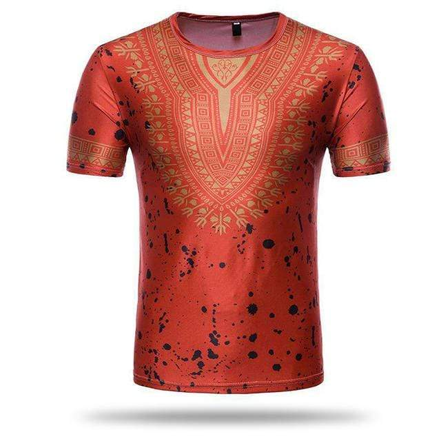 T-shirt Africain Homme Rouge