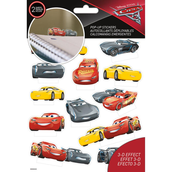 Disney Cars Pop Up Stickers
