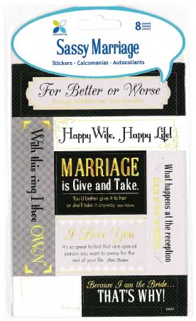 Sassy Marriage Stickers