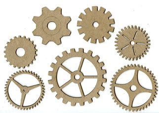 Large Cogs - Pack of 7 - Mixed Sizes