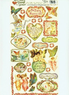 Heartwarming Vintage Stickers - Fairy Enchanting