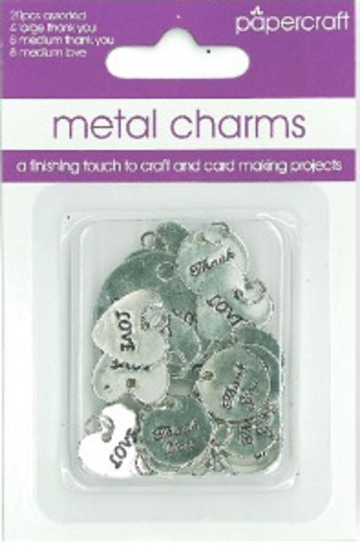 Metal Charms - Pack of 20
