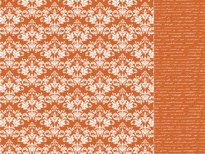 Back to Basics - Orange Damask