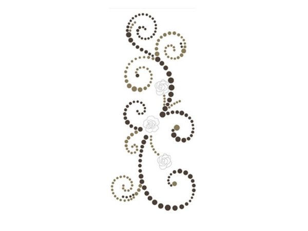 Prima Say It In Pearls with Flowers - Brown - Swirl 2