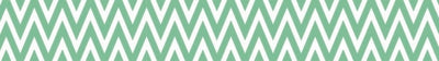 Printed Tape - Chevron Mint