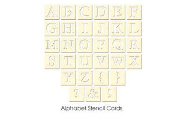 Artist Edition Alphabet Stencil Cards