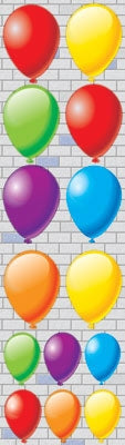 Balloons - Chipboard Stickers