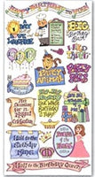 Heartwarming Expressions Stickers - Birthday Bash