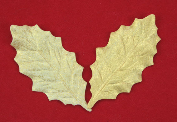 Bright Gold Holly Leaves