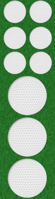 Golfball Chipboard Stickers