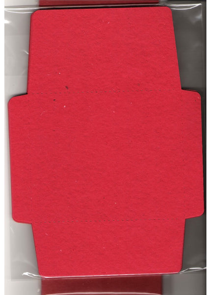 Pack of Ten Cards and Envelopes - Red