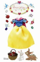 Snow White Dress Collage Stickers
