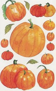 Vellum Watercolour Pumpkin Stickers