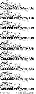 Celebrate With Us Rub-ons