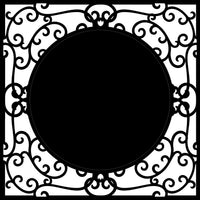 Chipboard Frame - Wrought Iron 2