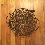 Sculpted Iron Tree Design Decorative Bowl