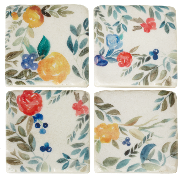 Square Mixed Floral Coasters