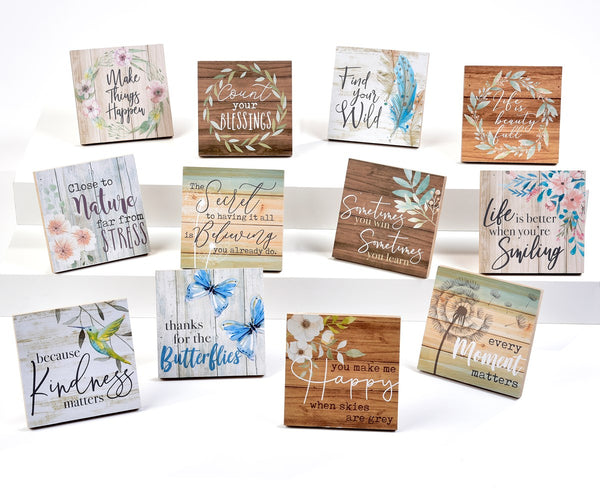 Mini Square Motivational Easel Signs