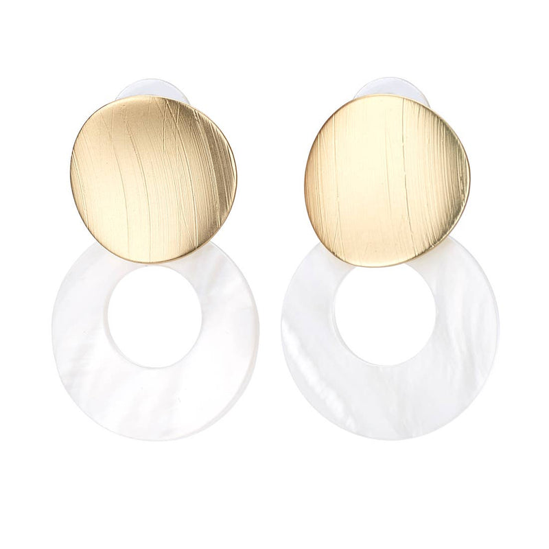 Open Shell Disk Earring