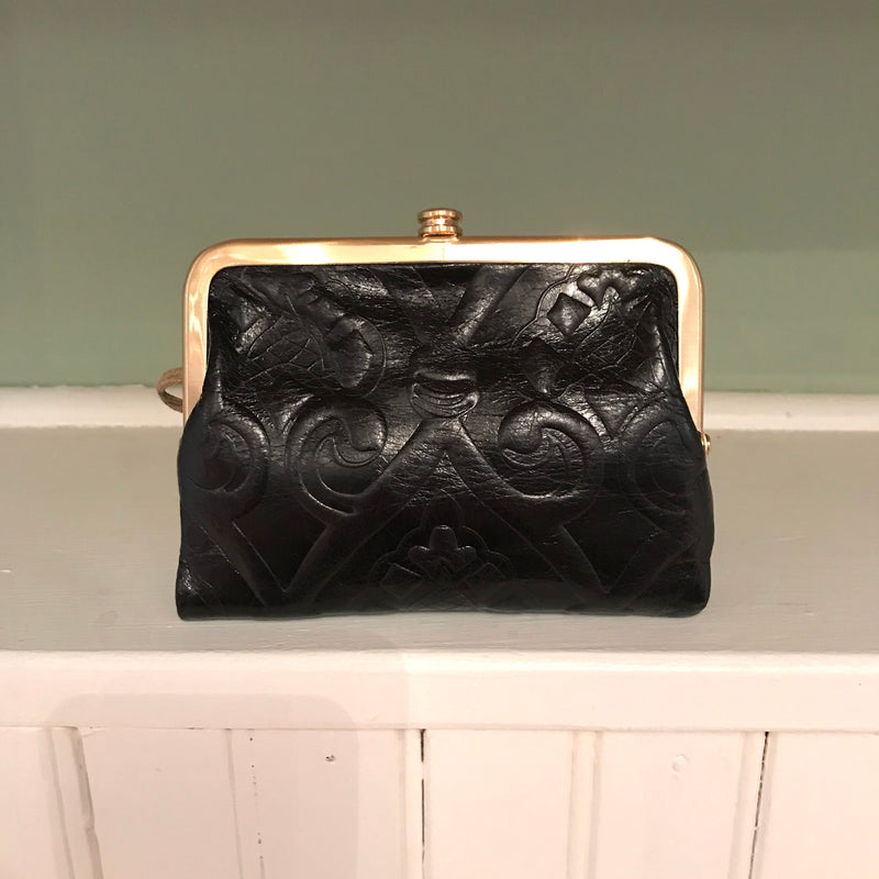 Amerie Embossed Kiss Lock Vintage Wallet