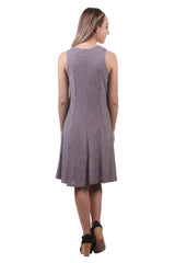 Iridescent Slinky Jersey Slvls. Panel Dress