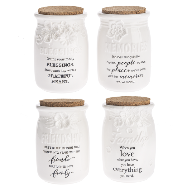 Ivory Ceramic Blessings Jars