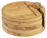 Say Cheese Wood Appetizer Round Tray Set
