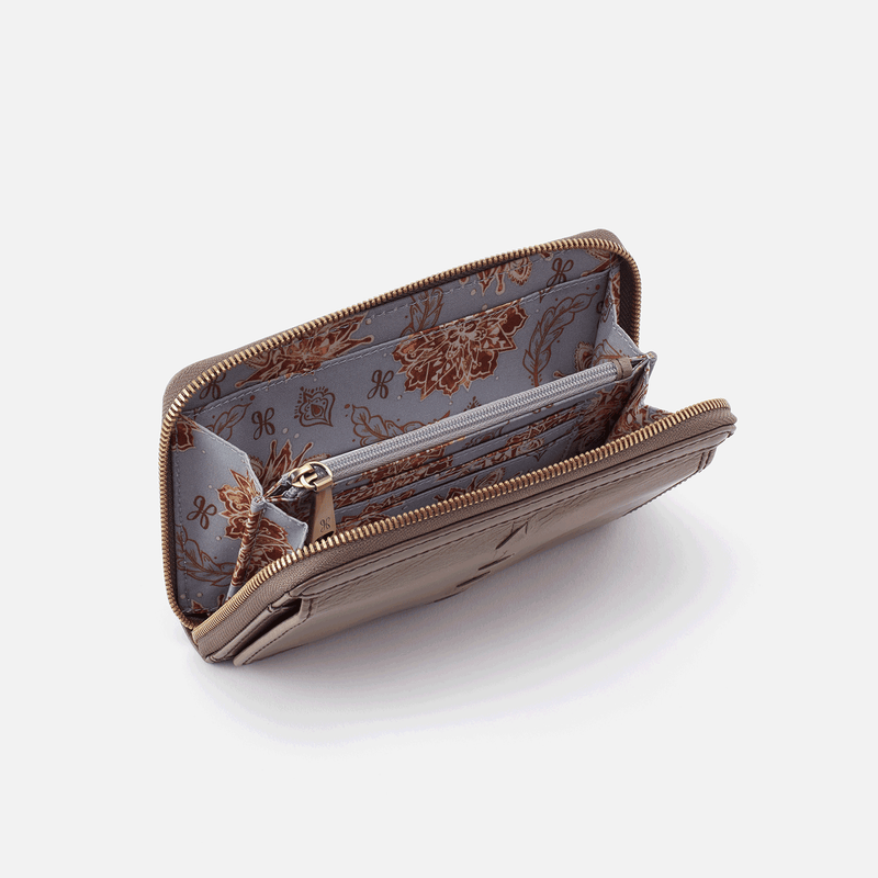 Elm Whip Stitch Zip Wallet