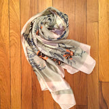Bridal Shower Buds Silky Scarf