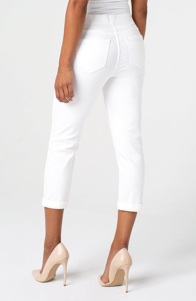 Chloe Crop Rolled Cuff Pull-On Pant