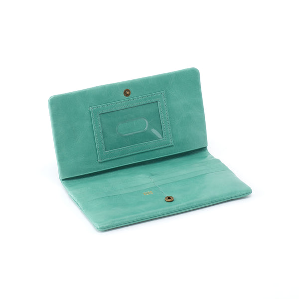 Lumen Foldover Leather Wallet or Clutch